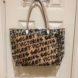 ⭐️NWT⭐️ VICTORIA'S SECRET CLEAR BEACH TOTE